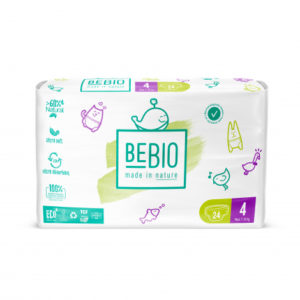 Couches jetables écologiques T4 (7 à 18 kg) de Bebio