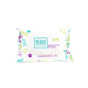 Lingettes légèrement parfumées (calendula et karité BIO) de Bebio
